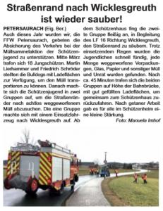 Bericht aus den Habewind-News-Unsere fränkische Heimat vom 05. Mai 2018