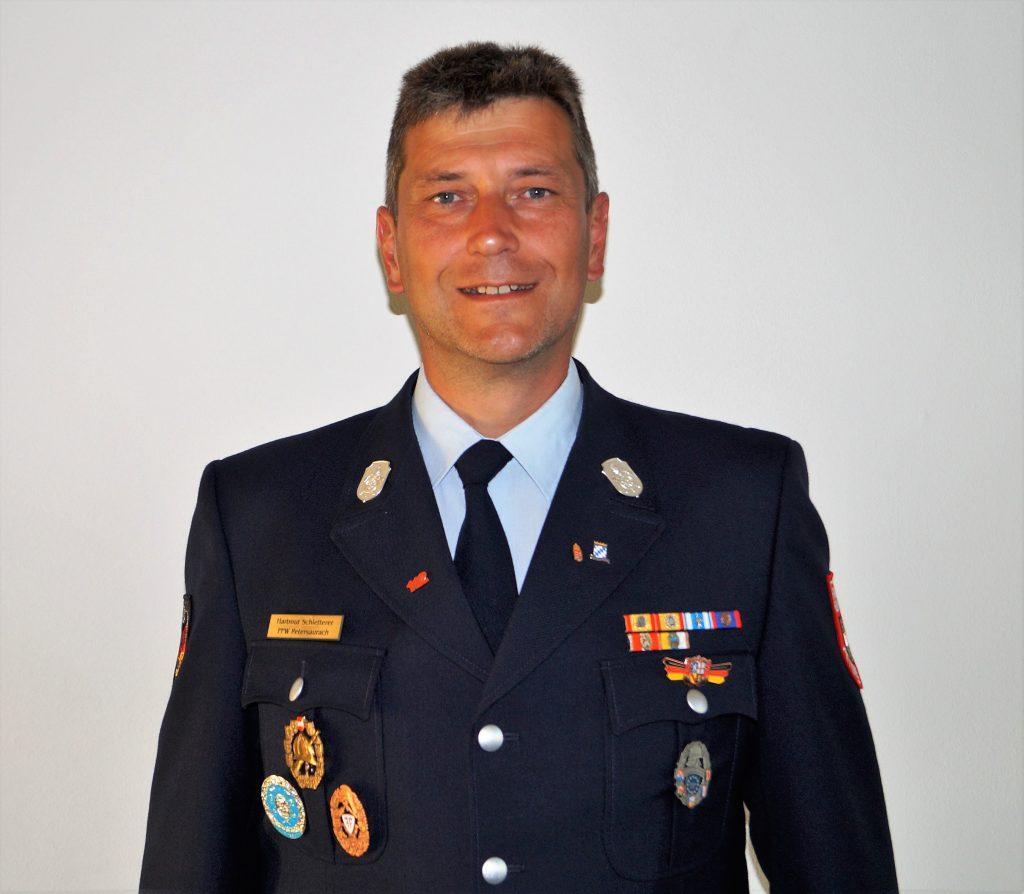 FFW Petersaurach 1. Kommandant Hartmut Schletterer (M.I.)