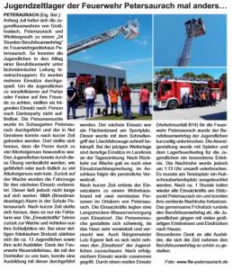 Bericht aus den Habewind-News-Unsere fränkische Heimat vom 11. August 2018