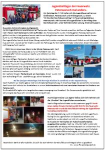 Bericht aus dem Amts- und Mitteilungsblatt der Gemeinde Petersaurach vom 17. August 2018