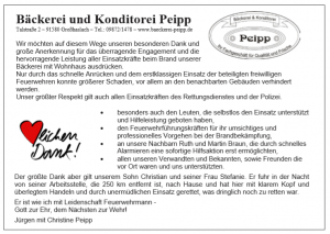 Bericht aus dem Amts- und Mitteilungsblatt der Gemeinde Petersaurach vom 14. Dezember 2018